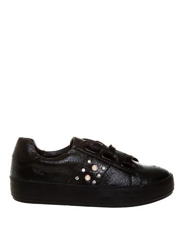 Limon Company Suni Deri Kadın Düz Ayakkabı Siyah